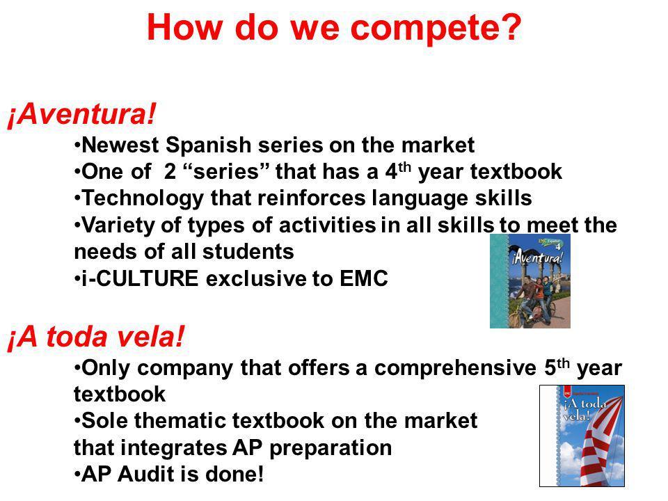 How do we compete. ¡Aventura.