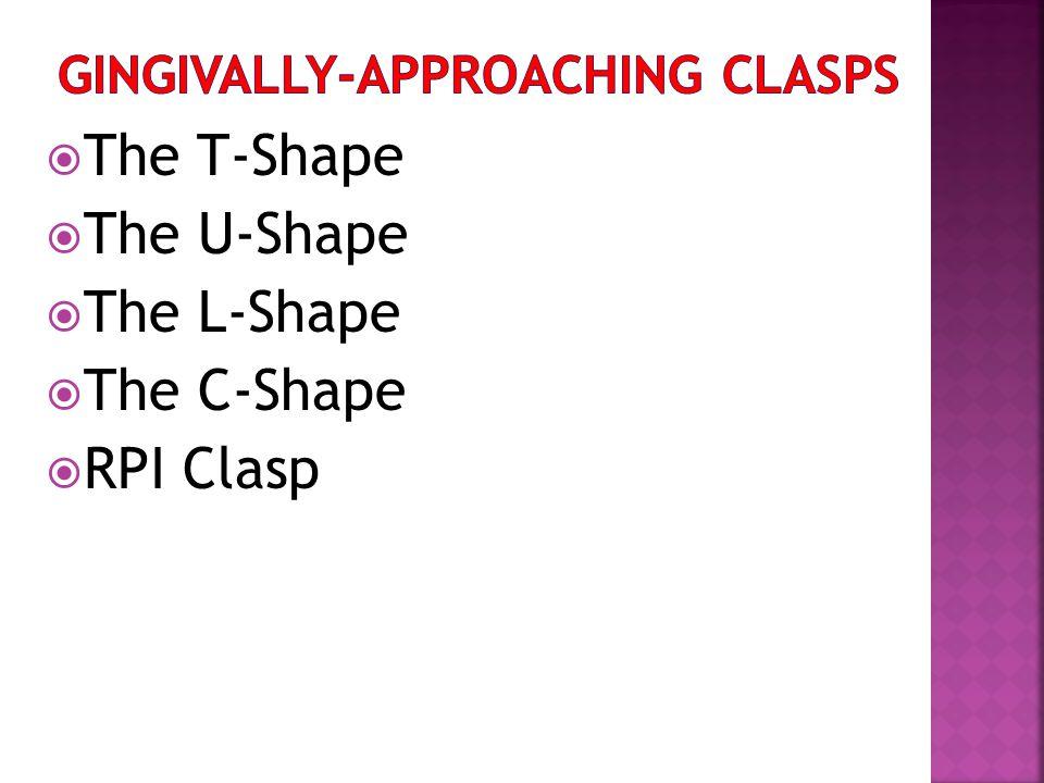 The T-Shape The U-Shape The L-Shape The C-Shape RPI Clasp