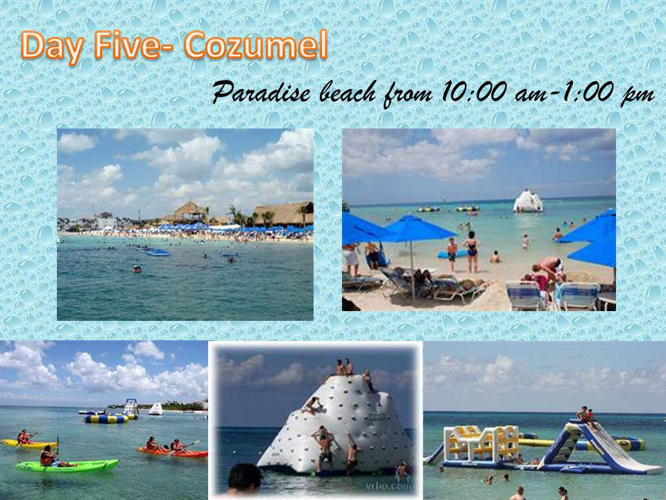Paradise beach from 10:00 am-1:00 pm