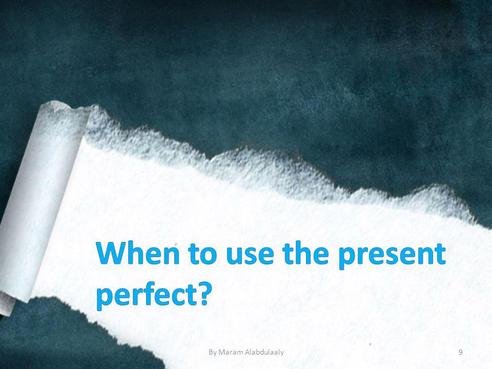 Using the Simple Past & The Present Perfect.Did it rain today.