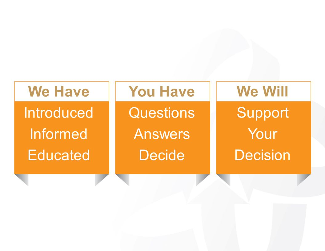 You Have Questions Answers Decide We Will Support Your Decision We Have Introduced Informed Educated
