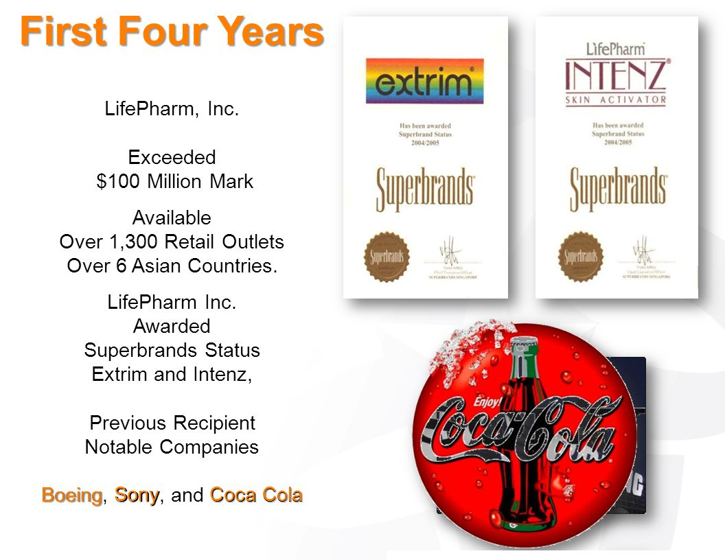 LifePharm, Inc. Exceeded $100 Million Mark Available Over 1,300 Retail Outlets Over 6 Asian Countries. LifePharm Inc. Awarded Superbrands Status Extri