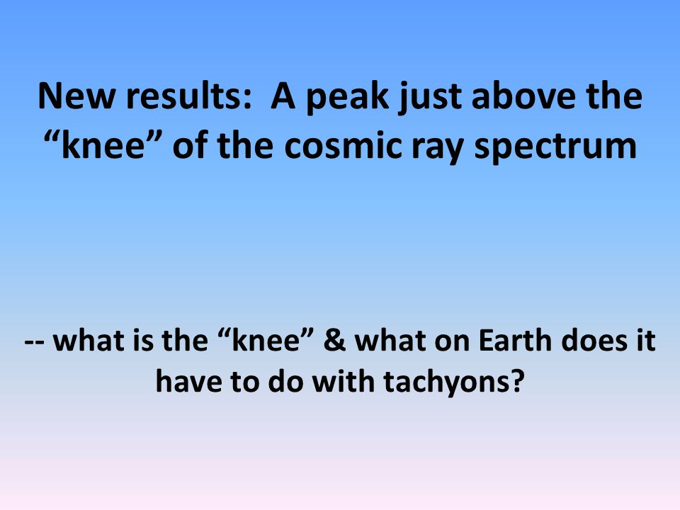 How could we tell if neutrinos are tachyons. 1. Find one type that can outrace light (v > c).