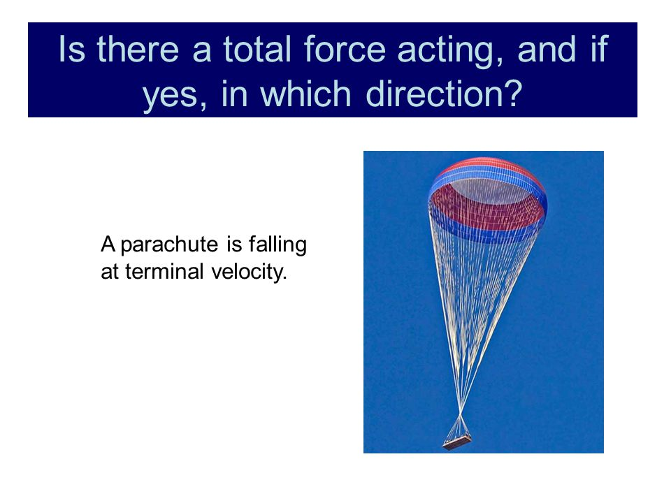 Is there a total force acting, and if yes, in which direction.