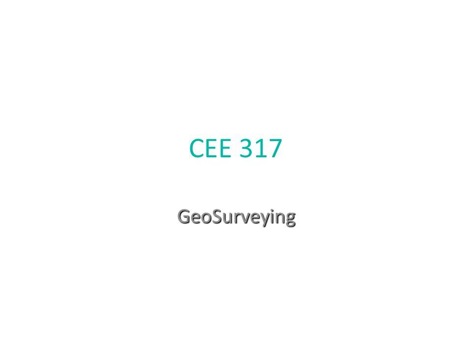 CEE 317 GeoSurveying