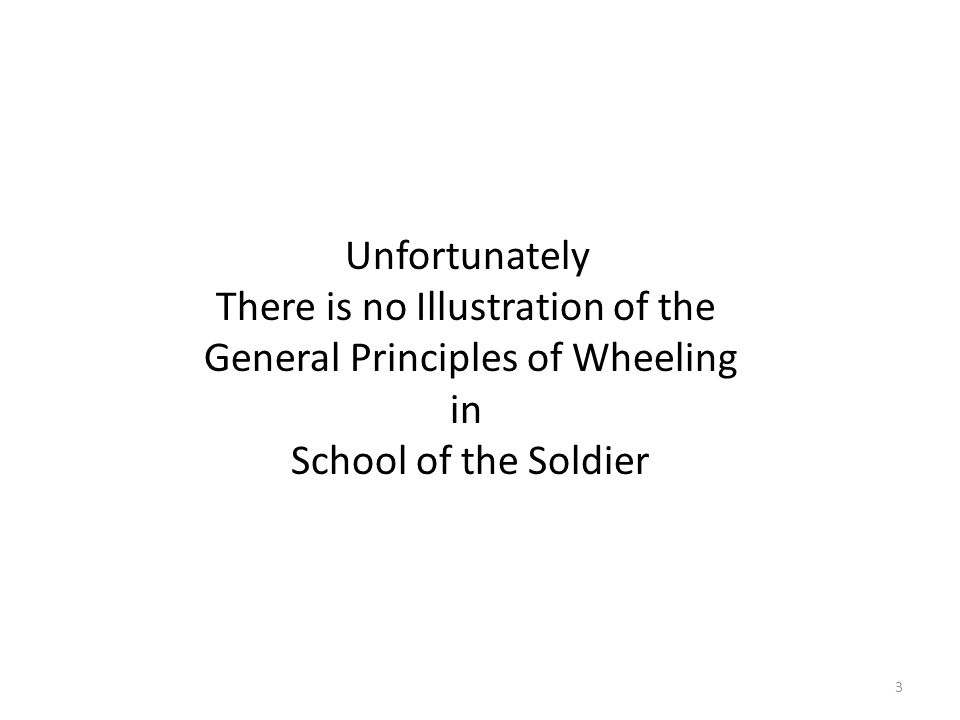 3 Unfortunately There is no Illustration of the General Principles of Wheeling in School of the Soldier