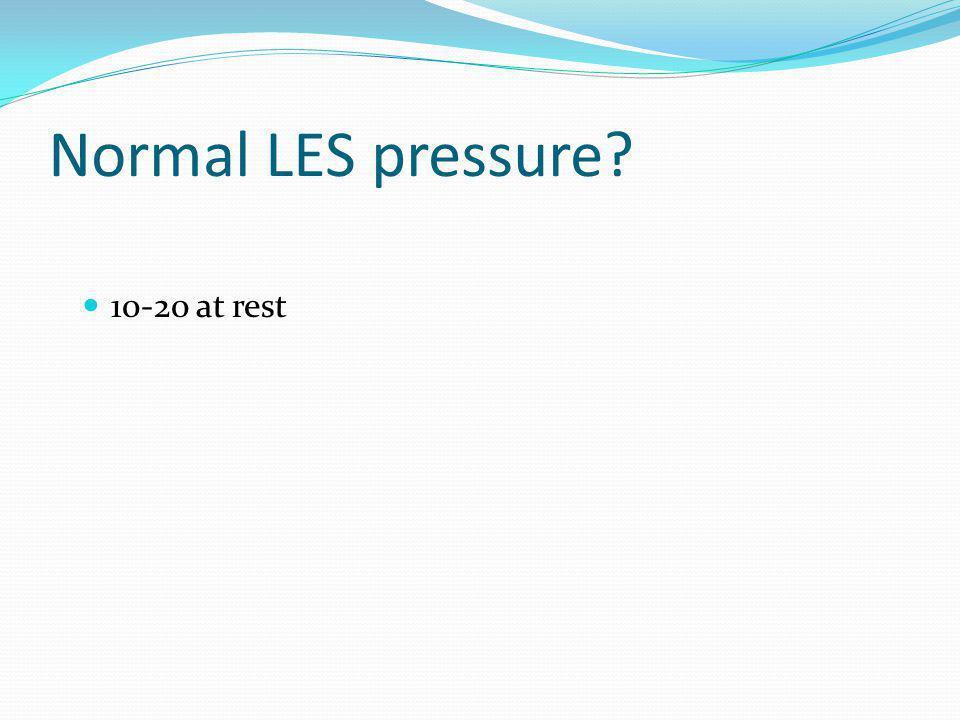 Normal LES pressure? 10-20 at rest
