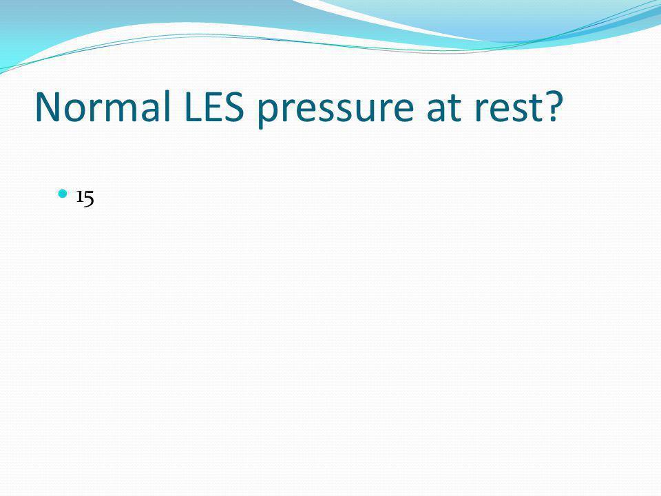 Normal LES pressure at rest? 15