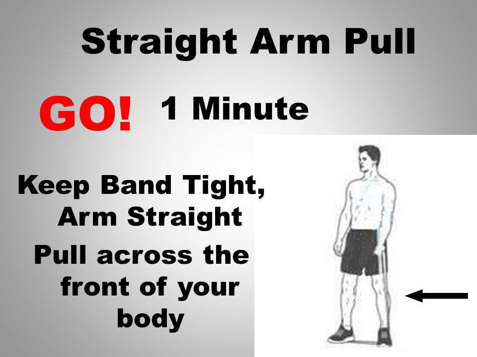 Rest Get ready to switch sides 1 Seconds Pull across with other arm.