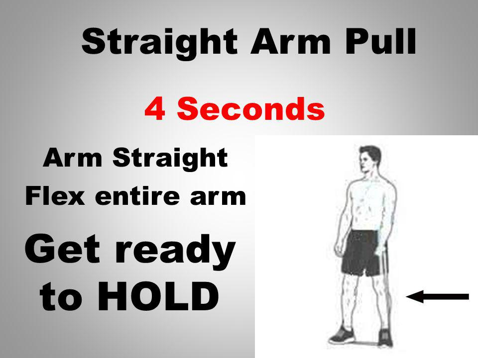 5 Seconds Arm Straight Flex entire arm Straight Arm Pull Get ready to HOLD
