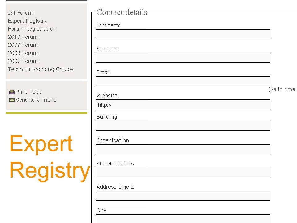 Expert Registry