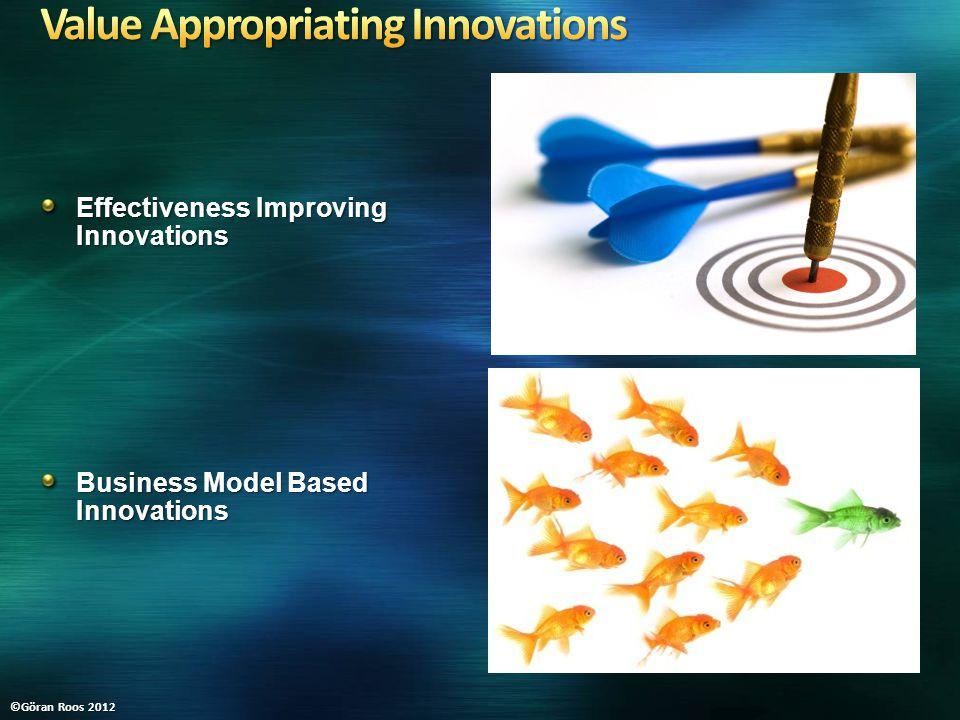 Effectiveness Improving Innovations Business Model Based Innovations ©Göran Roos 2012