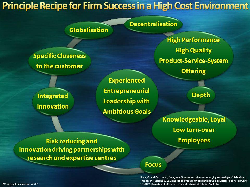 ExperiencedEntrepreneurial Leadership with Ambitious Goals ExperiencedEntrepreneurial Leadership with Ambitious Goals DepthDepth DecentralisationDecen