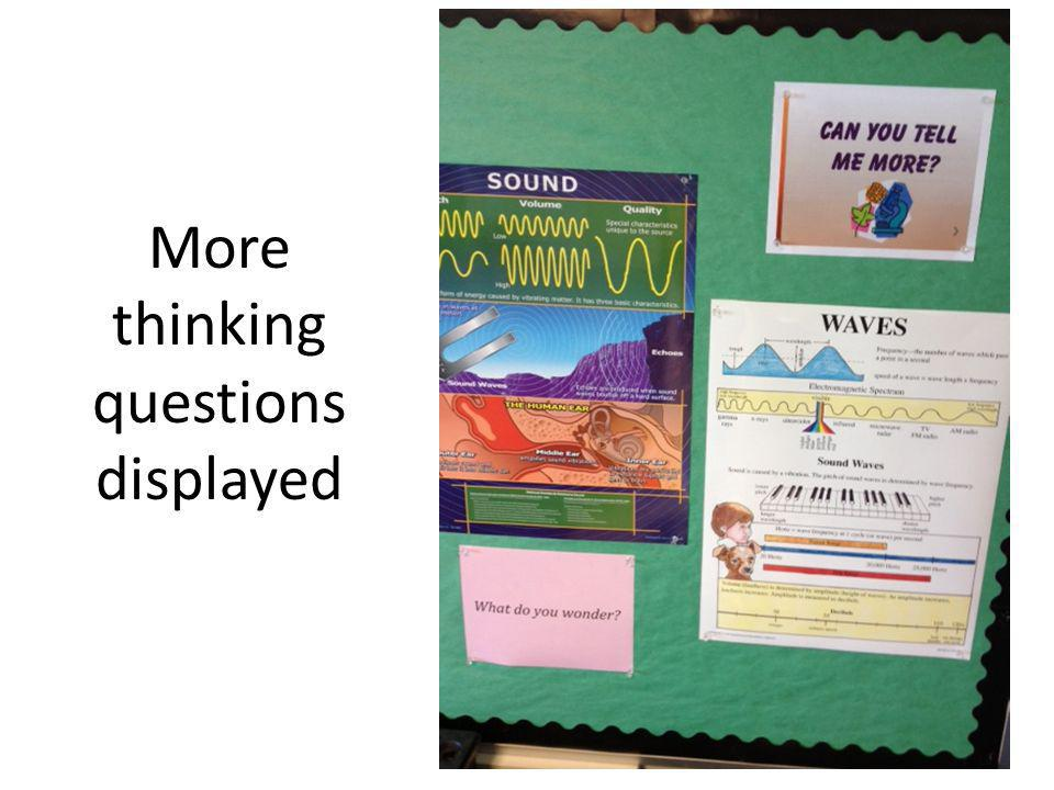 More thinking questions displayed