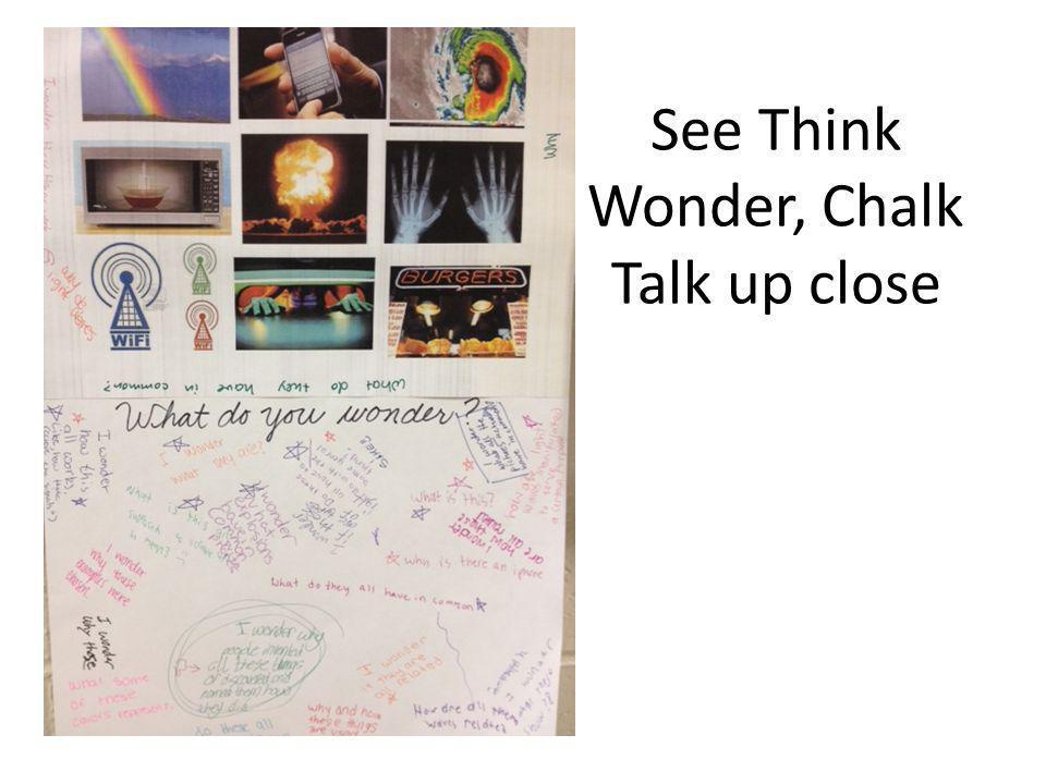 See Think Wonder, Chalk Talk up close