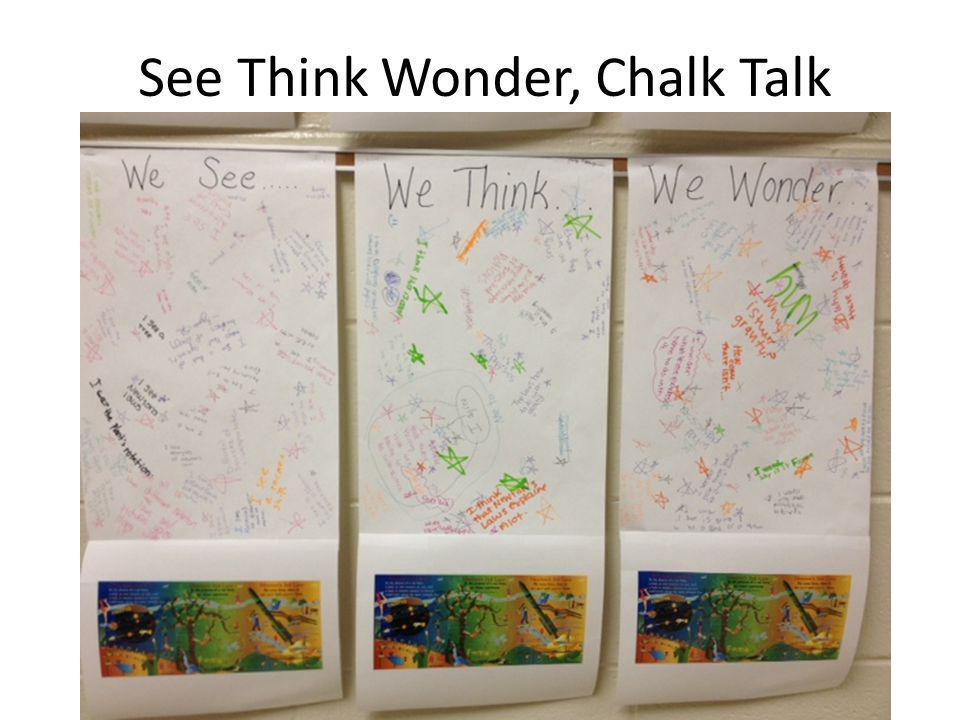 See Think Wonder, Chalk Talk