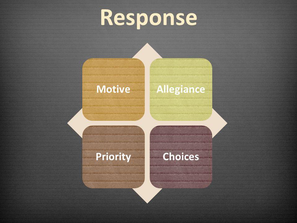 Response MotiveAllegiancePriorityChoices