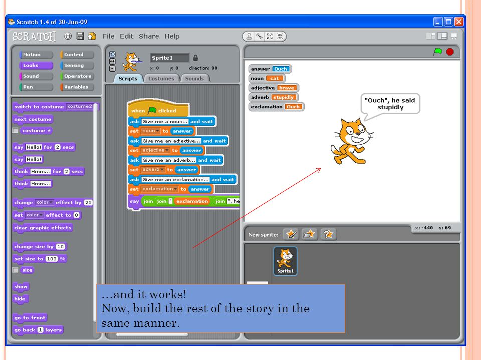 …and it works! Now, build the rest of the story in the same manner.