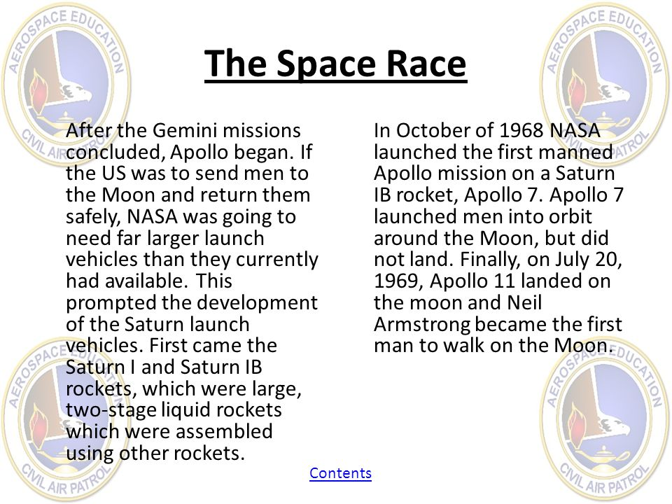 After the Gemini missions concluded, Apollo began. If the US was to send men to the Moon and return them safely, NASA was going to need far larger lau