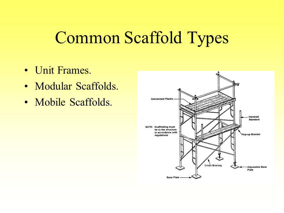 Common Scaffold Types Unit Frames. Modular Scaffolds. Mobile Scaffolds.