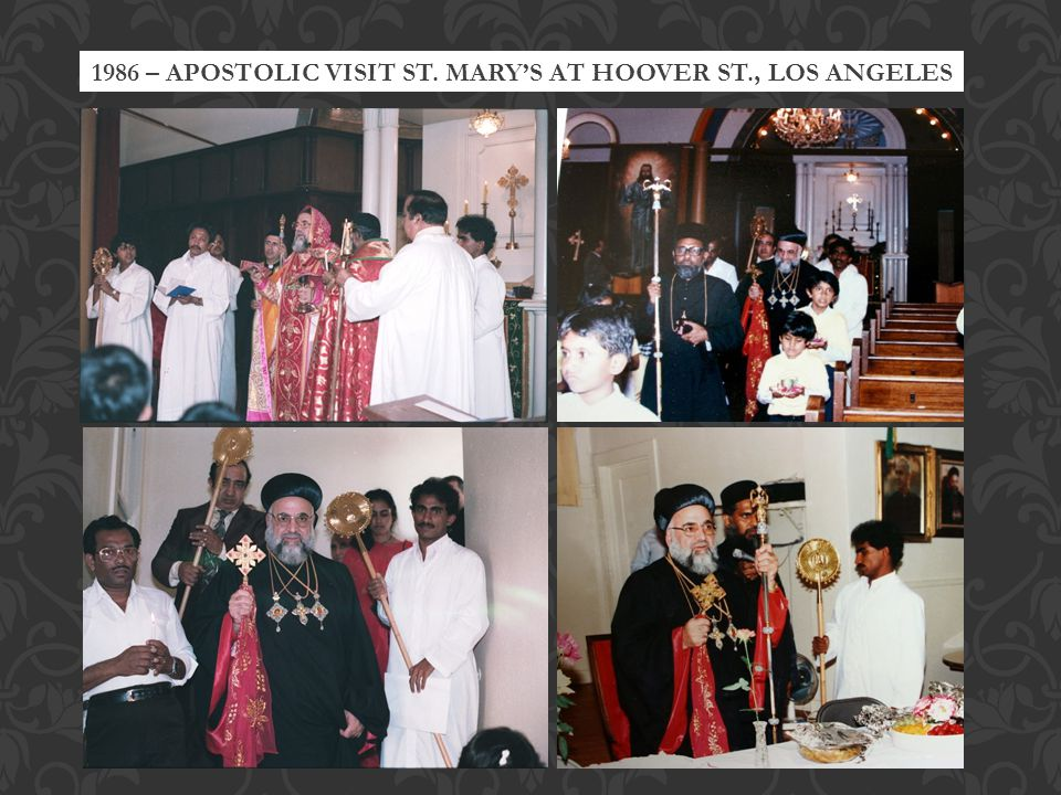 1986 – APOSTOLIC VISIT ST. MARYS AT HOOVER ST., LOS ANGELES