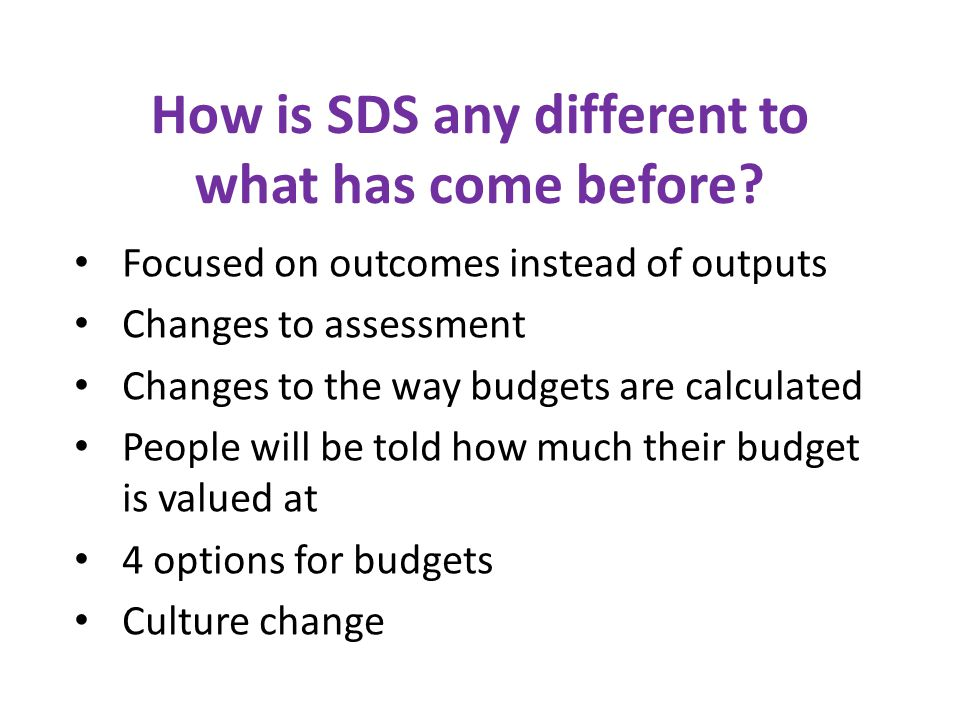 How is SDS any different to what has come before.