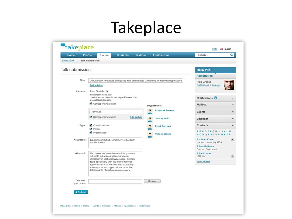 Takeplace