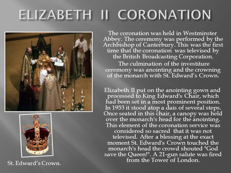 The coronation was held in Westminster Abbey.