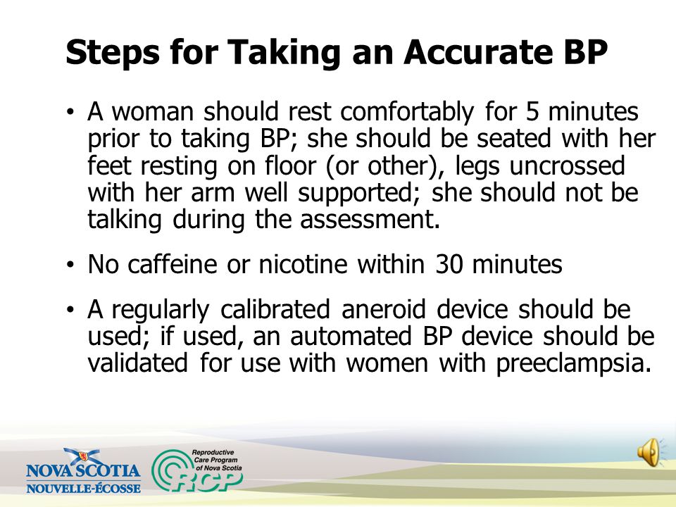 Guidelines for Assessment of BP Appropriate size cuff– 1 ½ times arm circumference Standard (26-33 cm) Large (33-41 cm) Extra large (> 41 cm) Woman sh