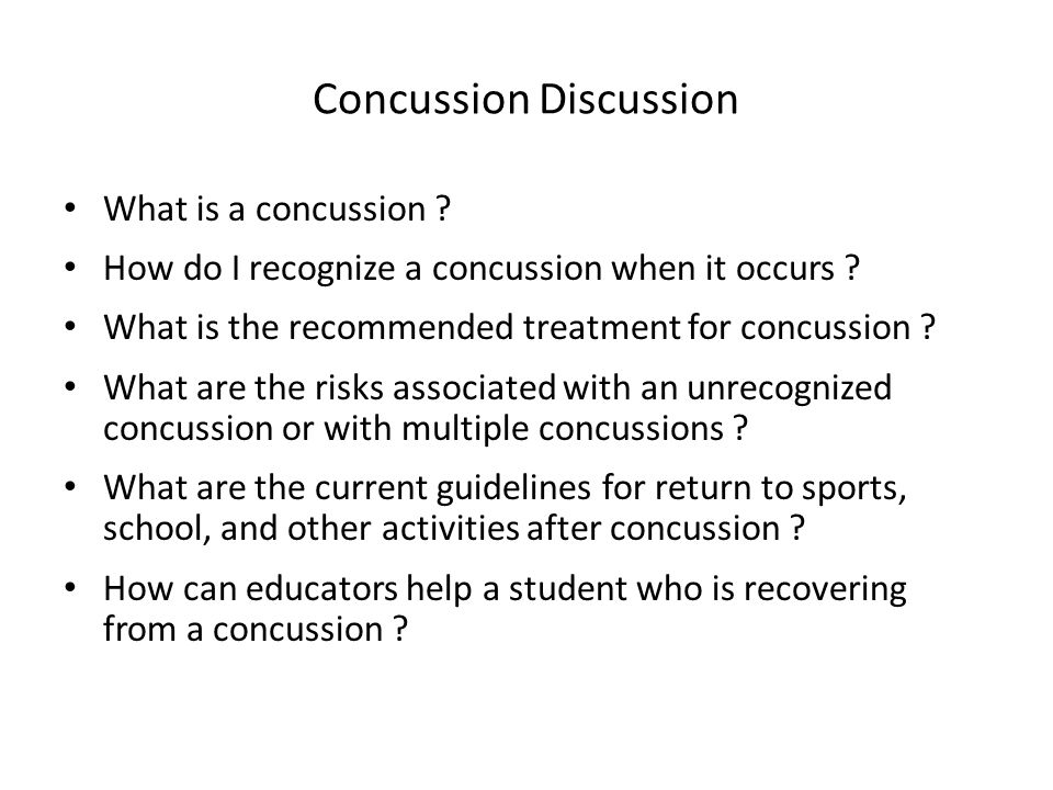 Concussion Discussion What is a concussion . How do I recognize a concussion when it occurs .