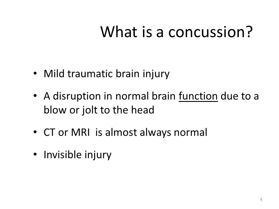 What is a concussion.