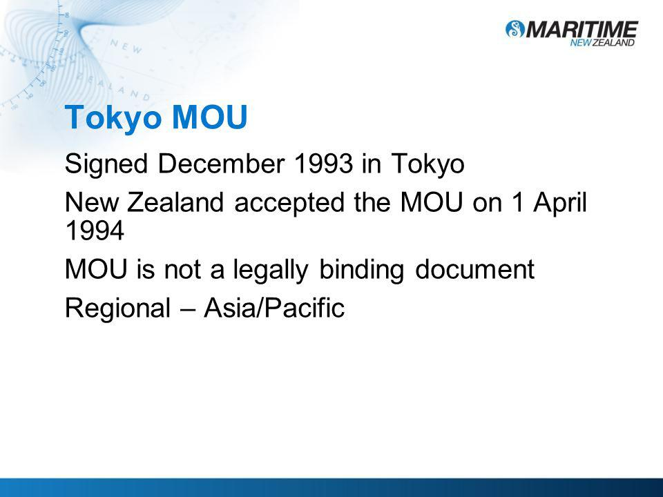 Tokyo MOU Vision - to eliminate substandard shipping in the Asia-Pacific region.