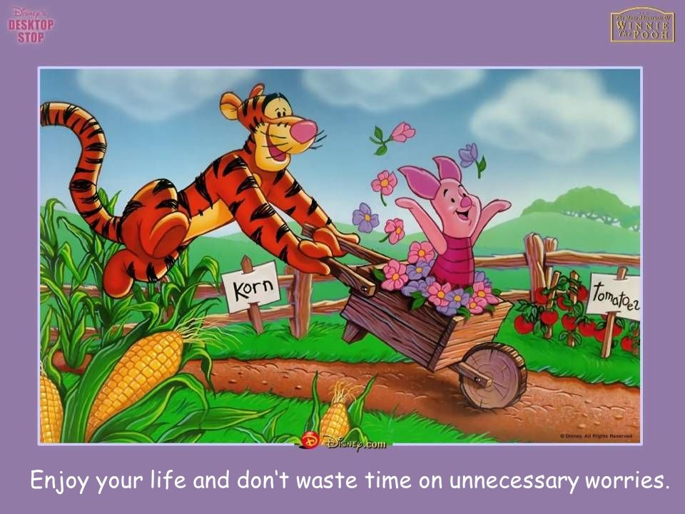 Enjoy your life and dont waste time on unnecessary worries.
