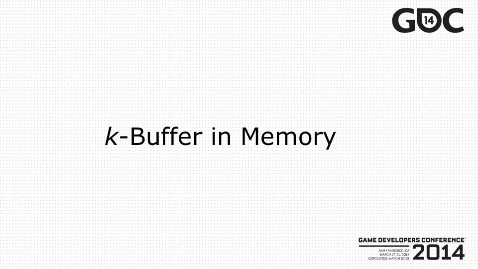 k-Buffer in Memory