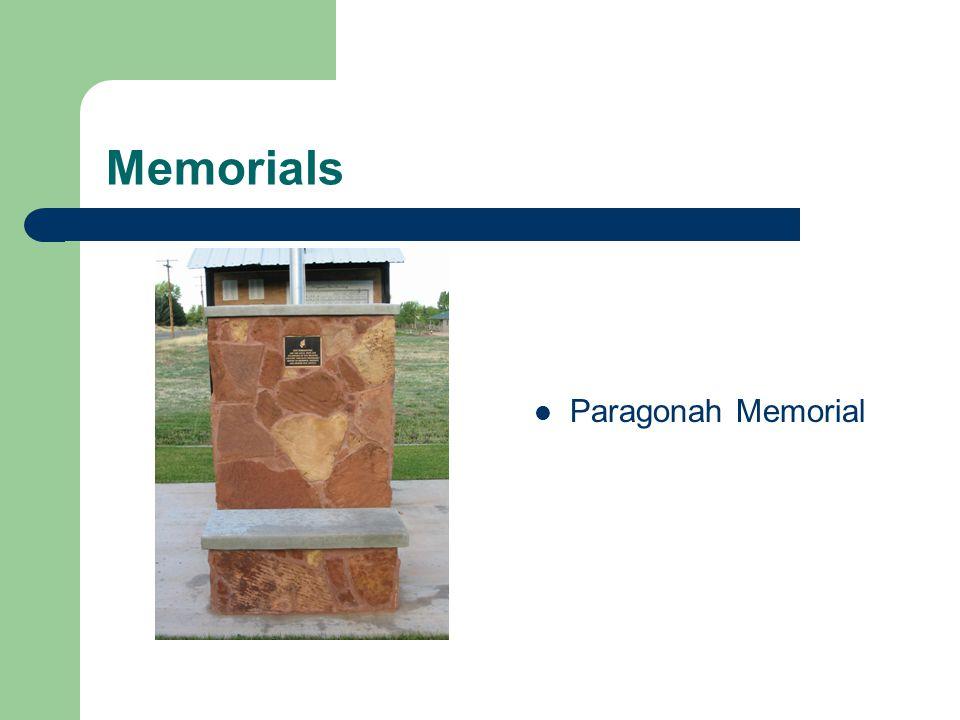 Memorials Paragonah Memorial
