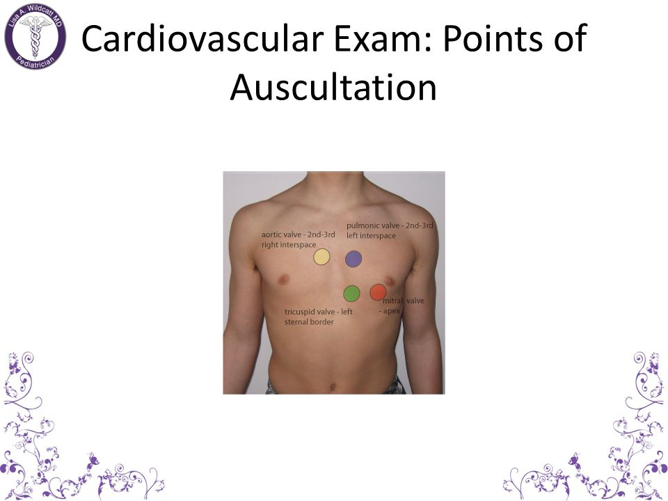 Cardiovascular Exam Inspection & Palpation – Chest conformation (left precordial bulge from longstanding cardiomegaly) – Increased precordial activity