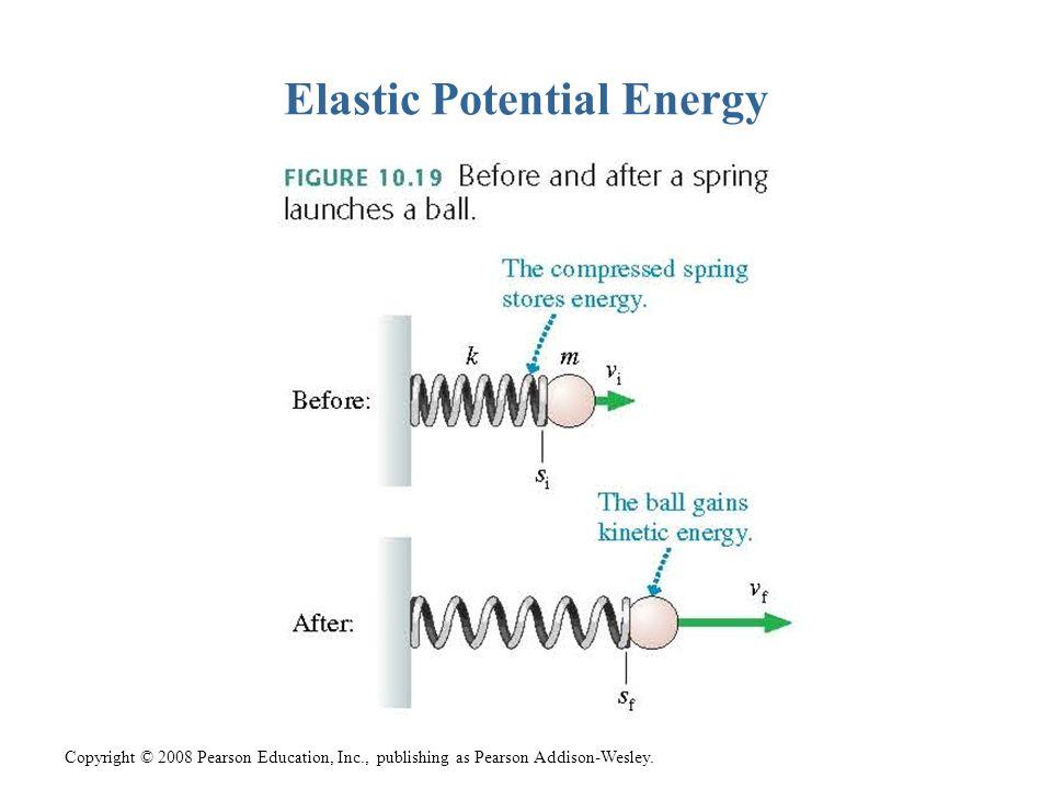 Copyright © 2008 Pearson Education, Inc., publishing as Pearson Addison-Wesley. Elastic Potential Energy