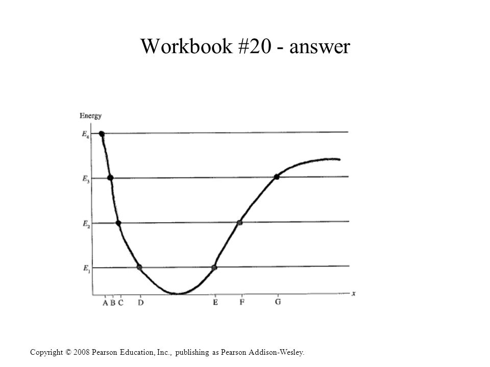 Copyright © 2008 Pearson Education, Inc., publishing as Pearson Addison-Wesley. Workbook #20 - answer