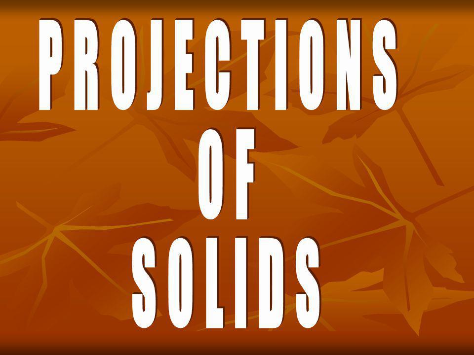 Important Terms Used in Projections of Solids: (8) Truncated Solid : When a Pyramid or a Cone is cut by a Plane inclined to its base, thus removing the top portion, the remaining lower portion is said to be truncated.