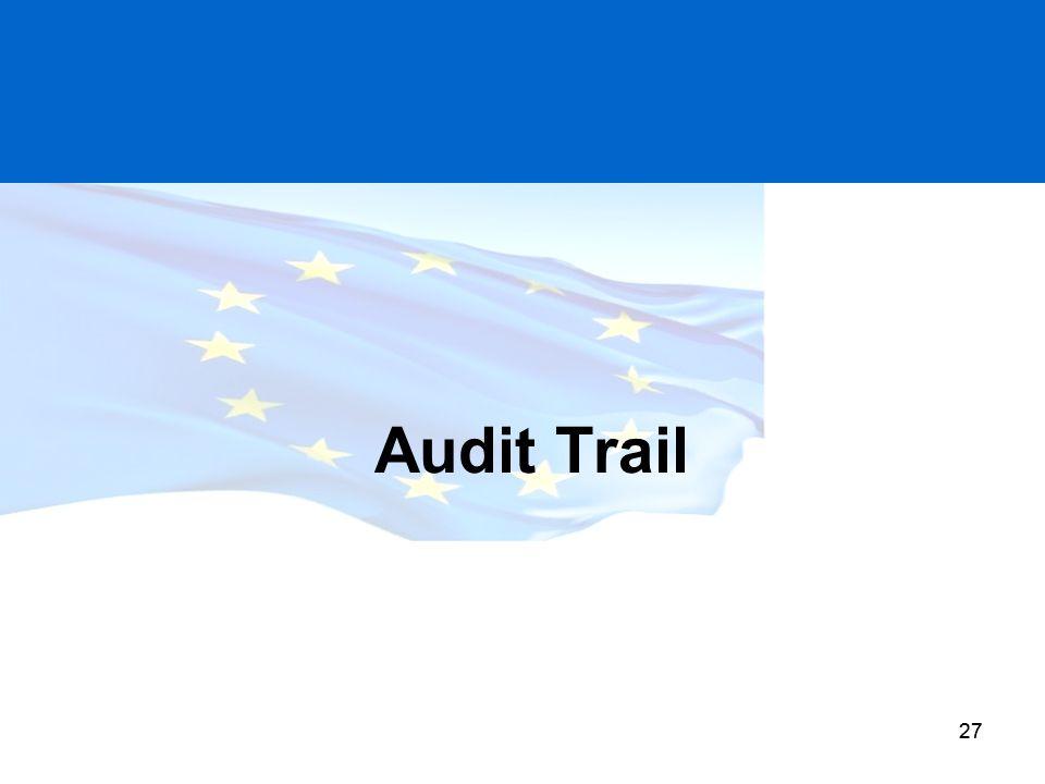 27 Audit Trail 27