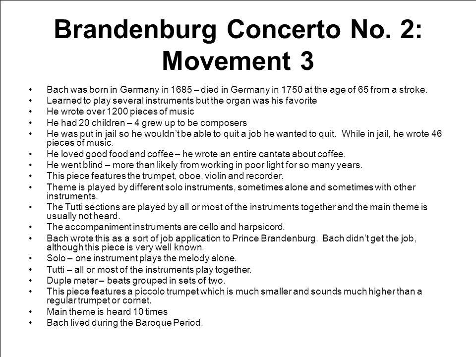 Brandenburg Concerto No.