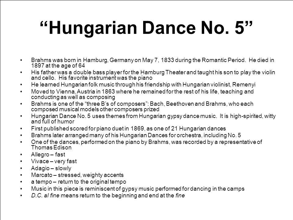 Hungarian Dance No.