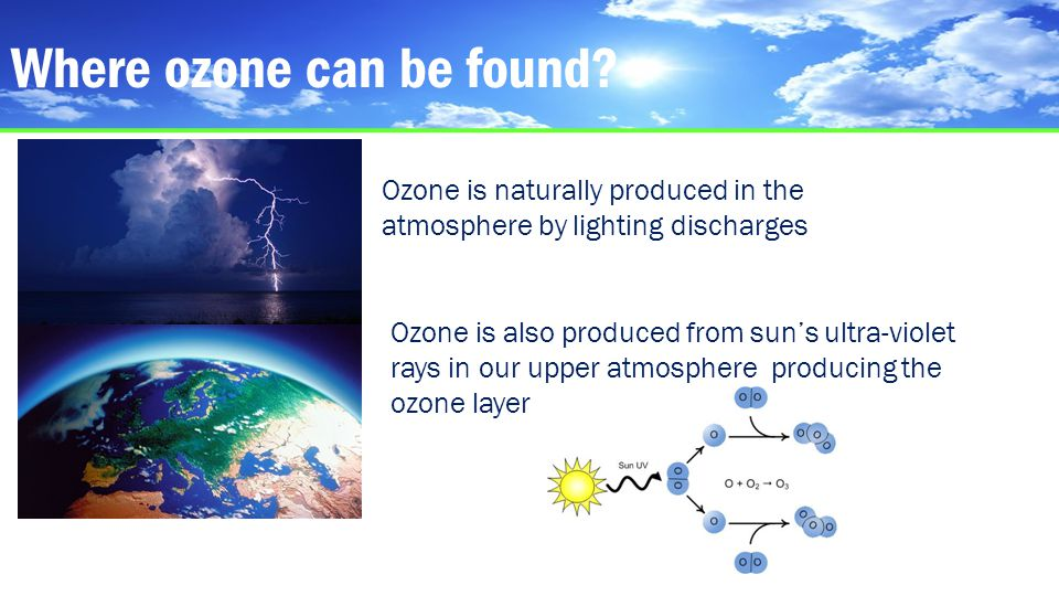 Where ozone can be found.