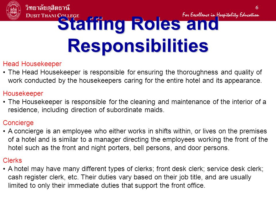 17 Housekeeping Often, the housekeeping department will employ 50% of the hotel staff!!