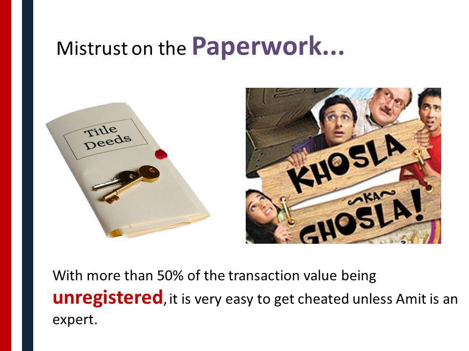 Mistrust on the Paperwork...