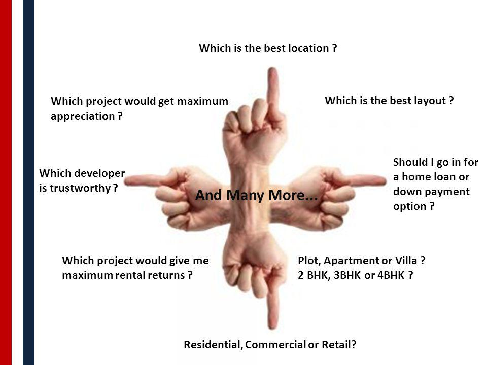 Which is the best location . Which project would get maximum appreciation .