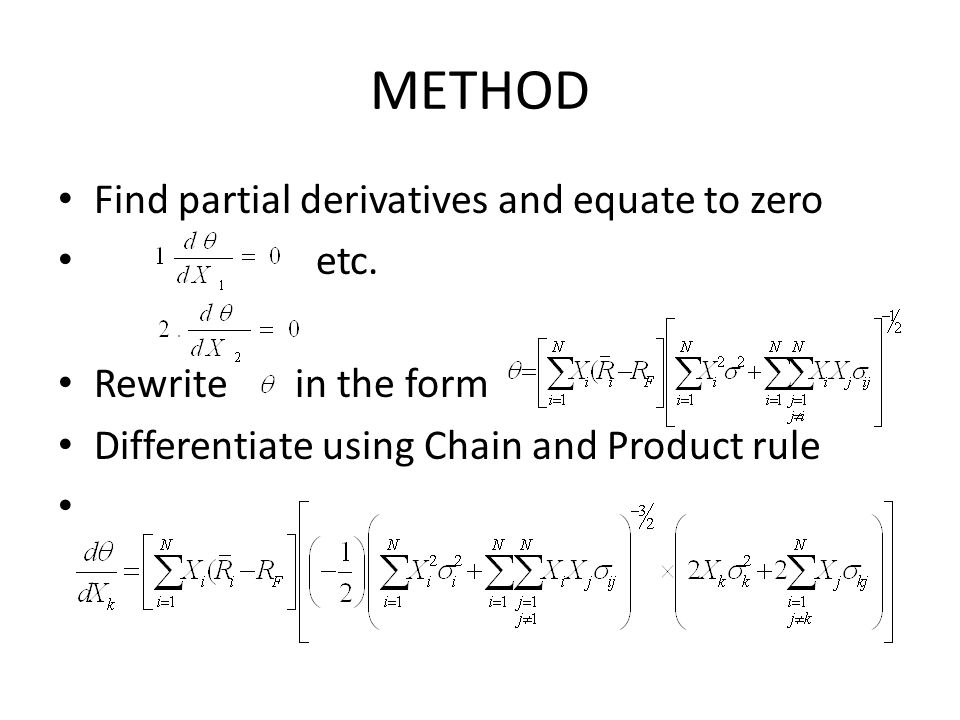 METHOD Find partial derivatives and equate to zero etc.