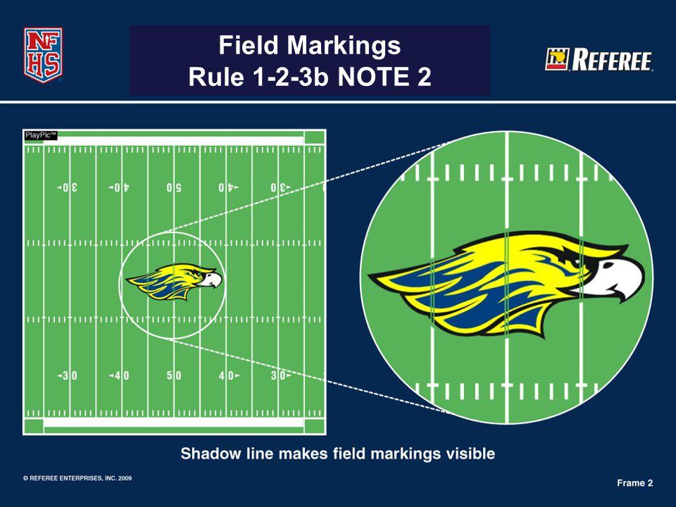 Field Markings Rule 1-2-3b NOTE 2