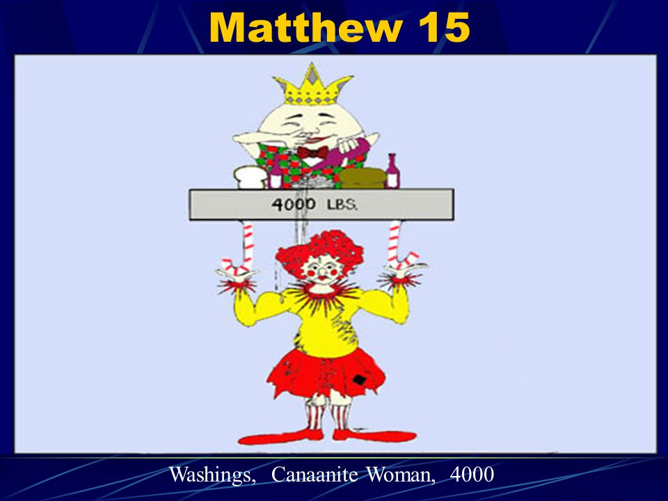 Matthew 15 Washings, Canaanite Woman, 4000