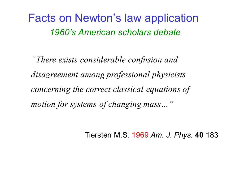 Plastino, A.R. & Muzzio, J.C. 1992 Facts on Newtons law application 1990s